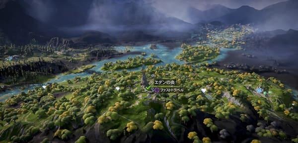 ニュードーンのマップ画像