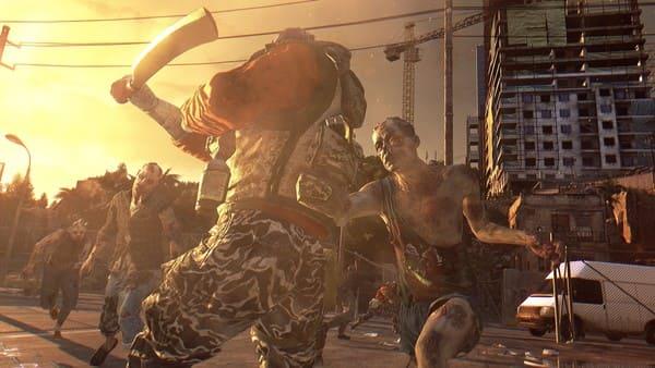 人間がゾンビと戦っている画像