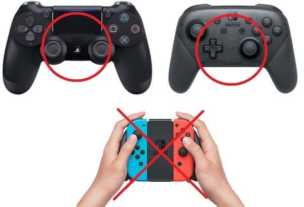 PS4とスイッチのコントローラーの画像